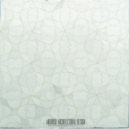 White Moroccan Tile 12. Moroccan White mosaic tile kitchen