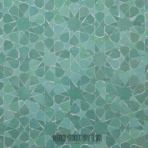 Green Moroccan Tile Las Vegas