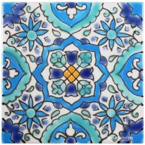 Mediterranean Pool Tiles Los Angeles California Mediterranean Pool Tiles  Los Angeles California