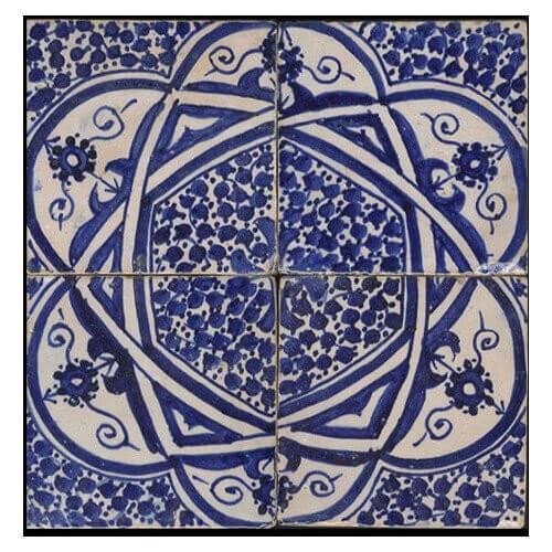 Blue white Moroccan Tile