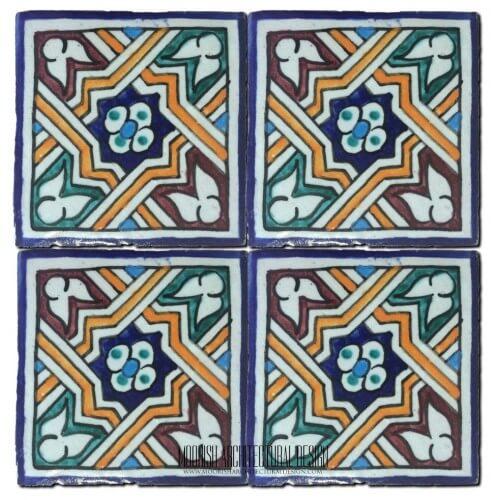 Spanish colonial pool tile