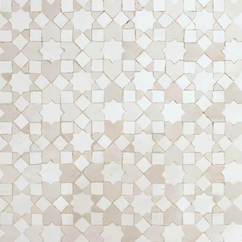 White Moroccan Kitchen tile