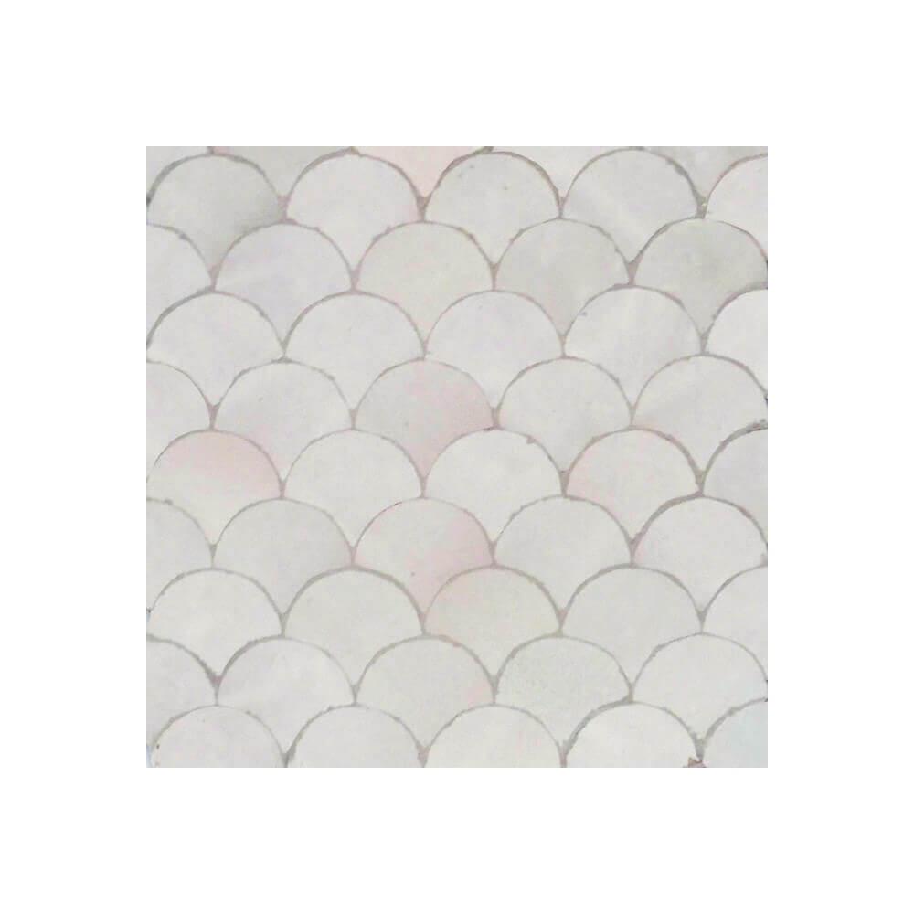 White Moroccan bathroom tile for sale