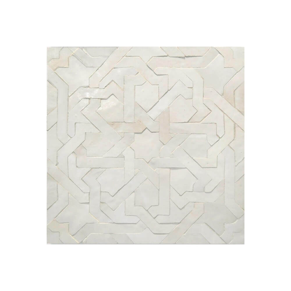 White Moroccan bathroom floor tile for sale New york