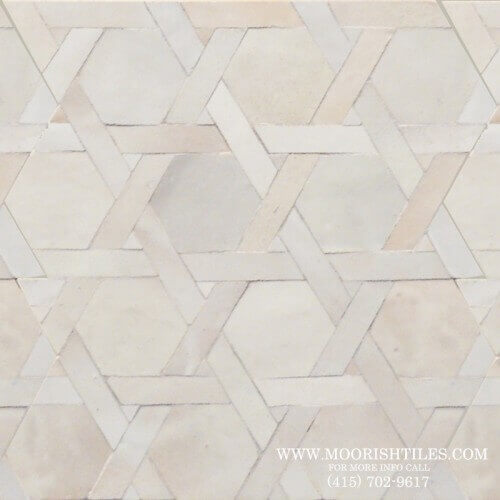 White Moroccan Tile 07
