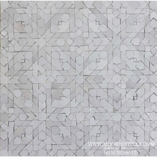 White Moroccan Tile 08