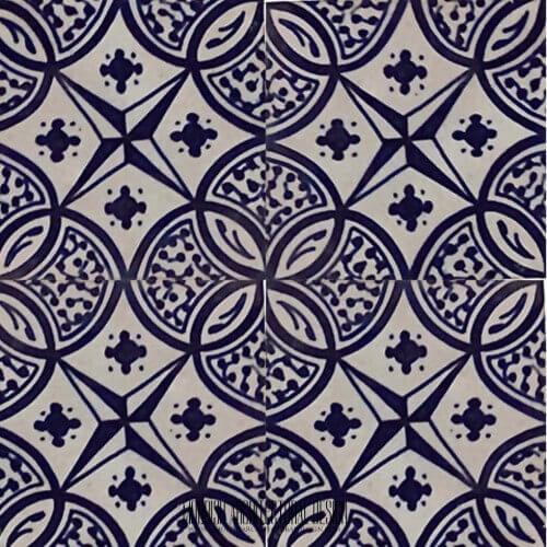 Blue mexican tile blue moroccan bathroom tiles for Fez tiles
