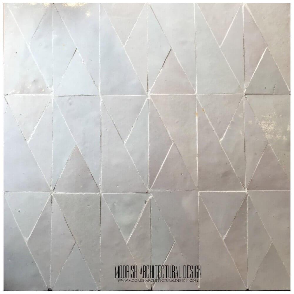 White Moroccan bathroom floor tile | Moroccan Bathroom Tiles