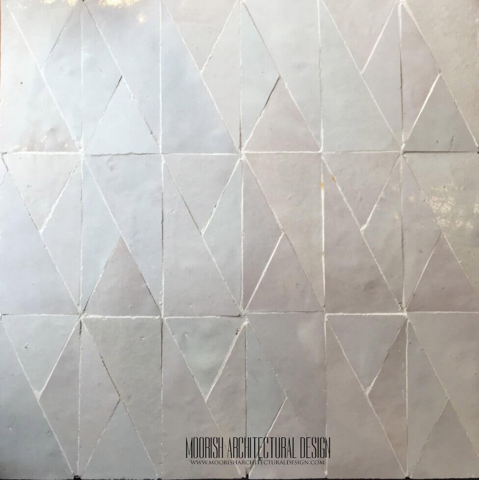 White Moroccan bathroom floor tile | Moroccan Bathroom Tiles