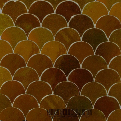 Brown Fish Scales Tile