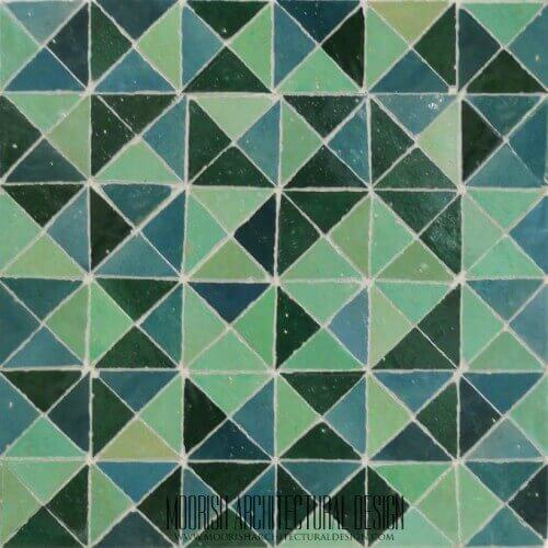 Aqua Triangles Tile