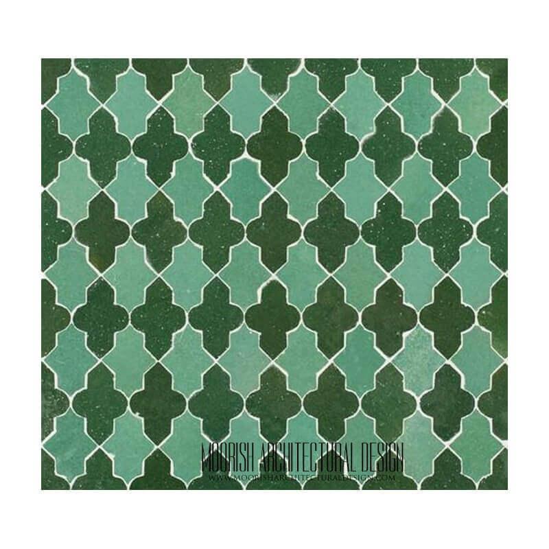 Moorish Arabesque shower tile mosaic