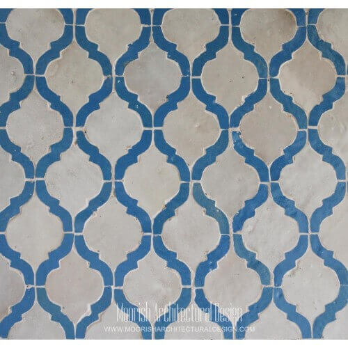 Blue Arabesque Tile