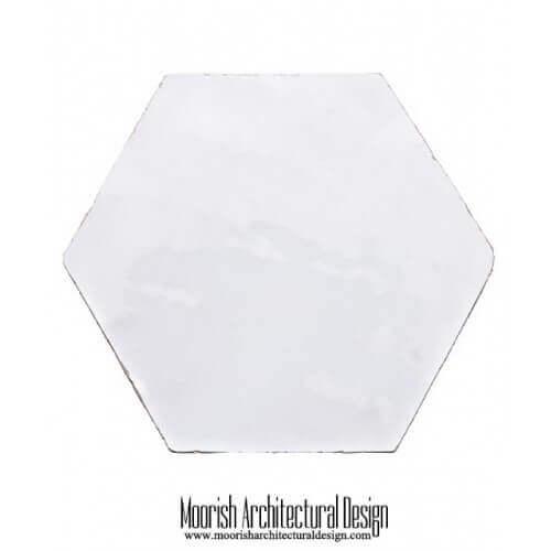 White Hex Tile