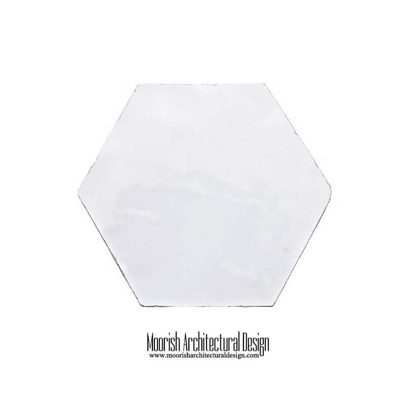 White Moroccan Hex Tile