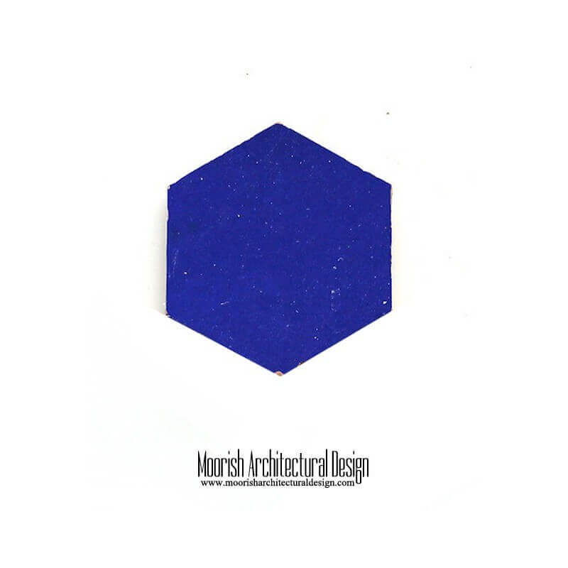Blue Moroccan Hex Tile