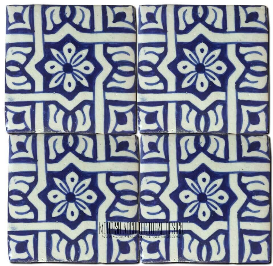 Moroccan Tiles & Mediterranean Tiles – Blue Bathroom Tile