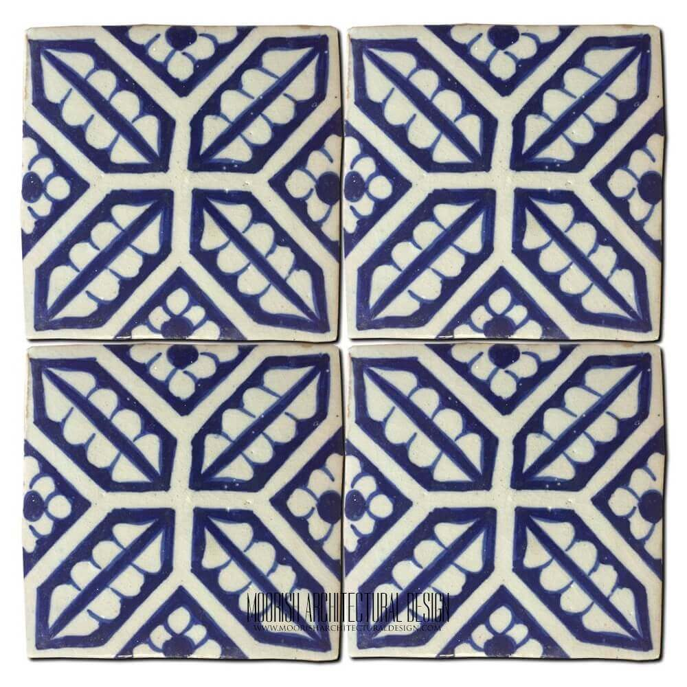 Moroccan Kitchen Tiles Ceramic Mexican Blue Spanish Mediterranean Kitchen Tile