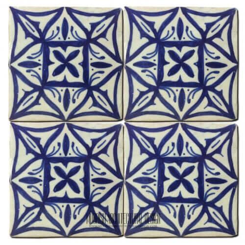 Blue mediterranean kitchen ceramic tile 4x4 home kitchen for Fez tiles