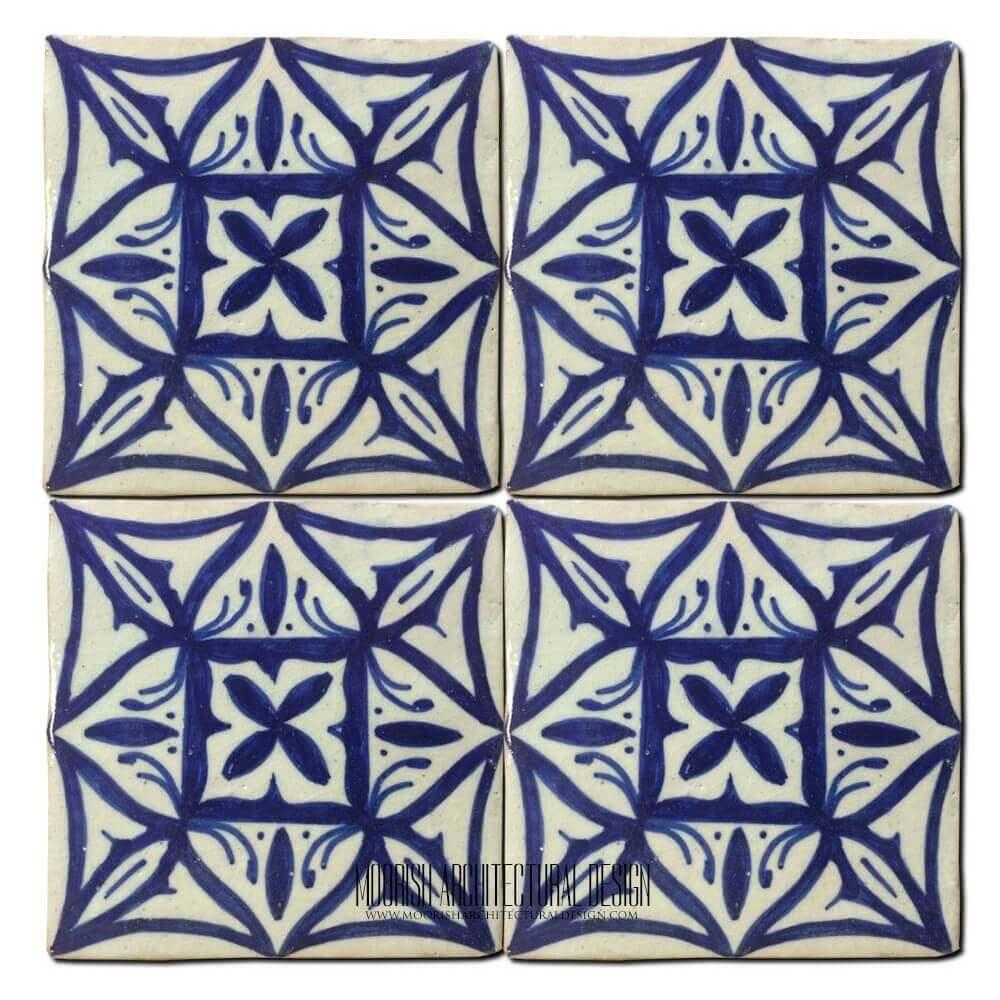 Mediterranean Kitchen Ceramic Tile 4x4