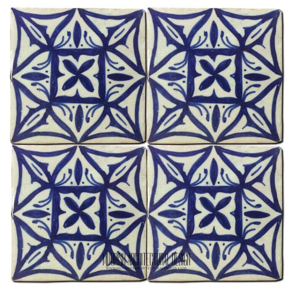 - Blue Mediterranean Kitchen Ceramic Tile 4x4: Home & Kitchen