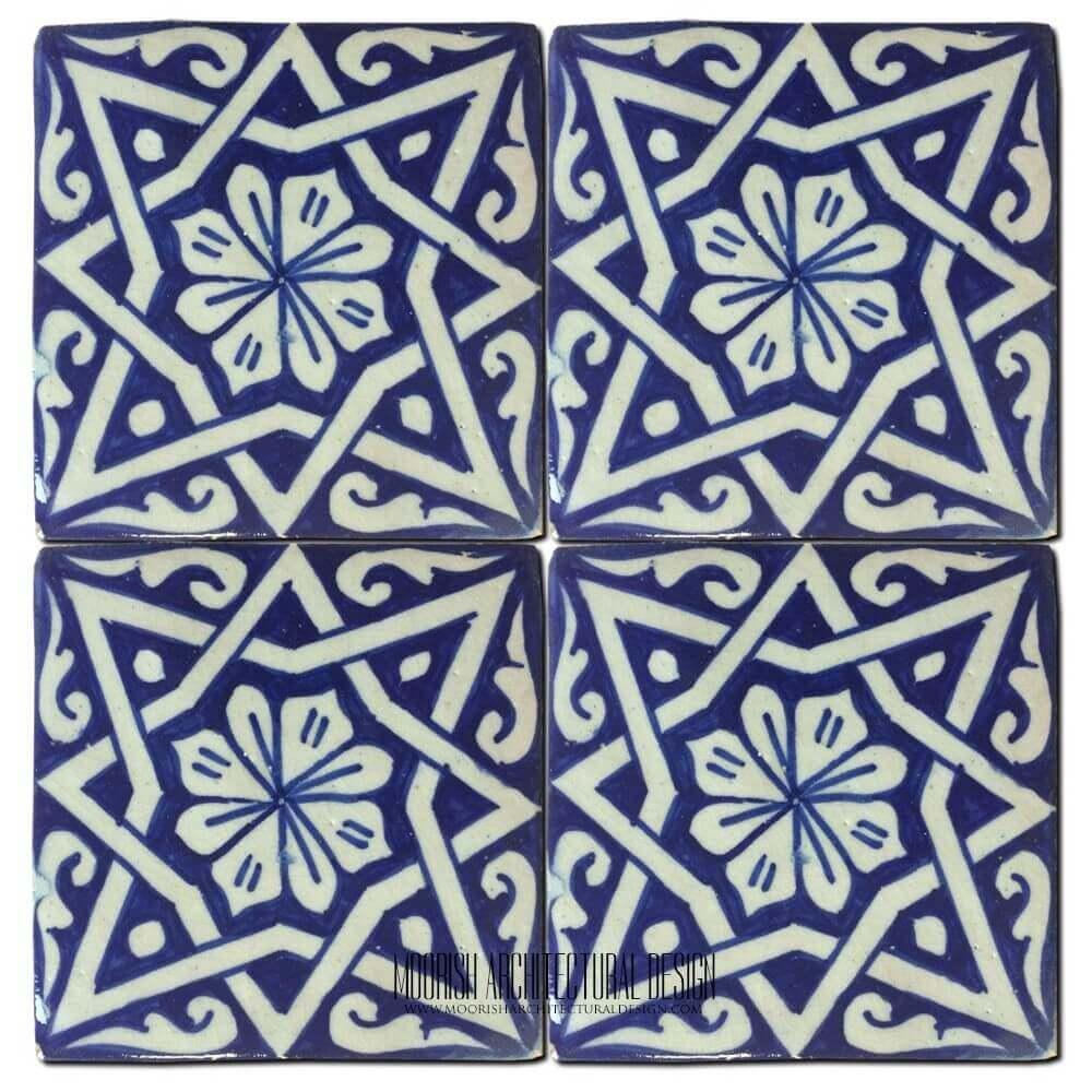 Mediterranean Tile Blue Kitchen Wall Tiles Ideas