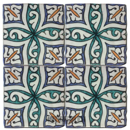 Moroccan Hand Painted Tile 33