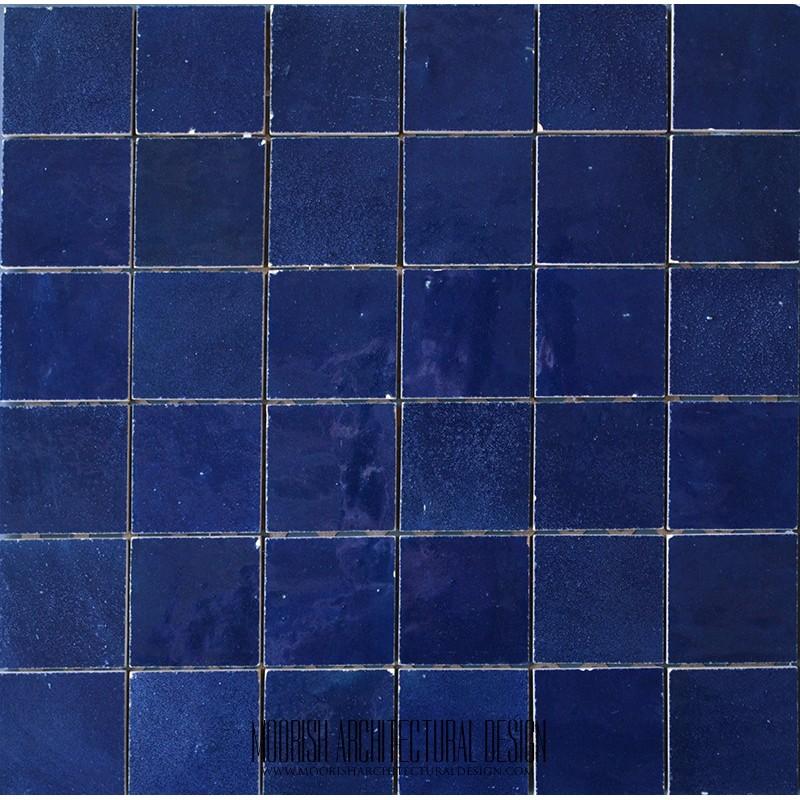 Blue Moroccan Pool Tile Blue Moorish Bathroom Tiles