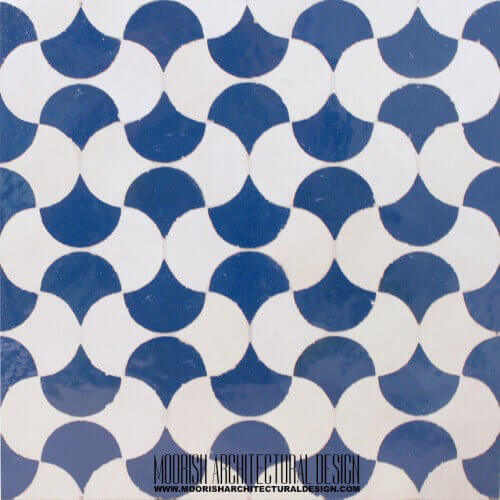 Blue & White Fish Scales