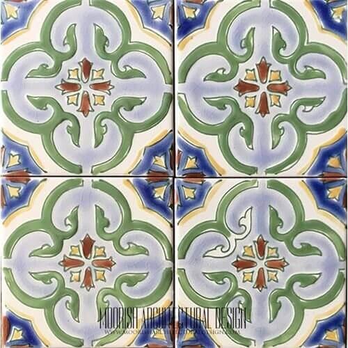 Portuguese pool tiles
