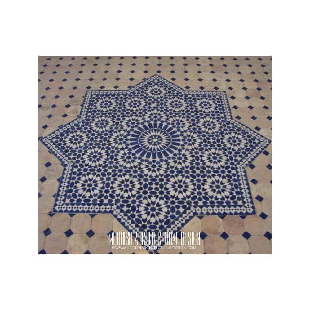 Moroccan Tile Medallion Moorish Floor Mosaic Mural