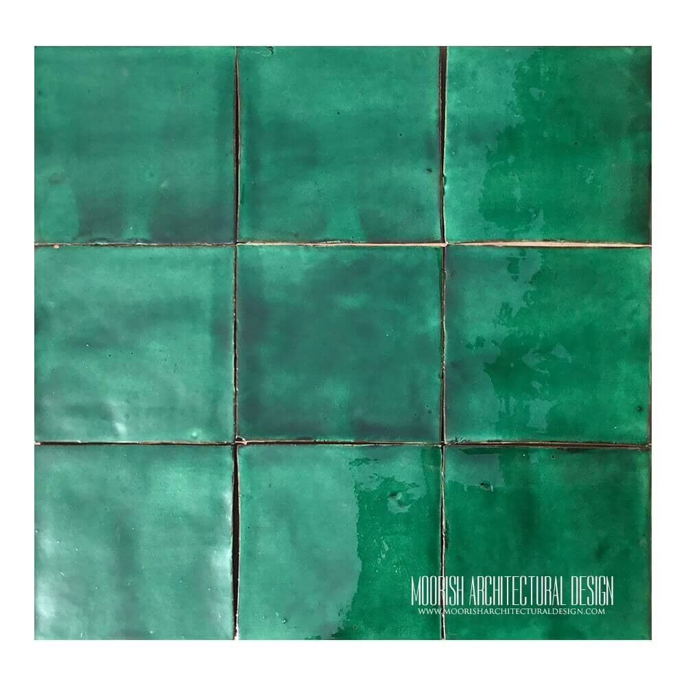 Dark Green Pool Tiles