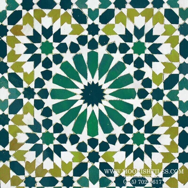 Green Zellige Mosaic