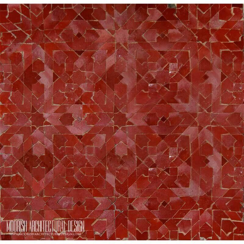 Red Moroccan Mosaic Tile Kitchen Amp Bathroom Tile Ideas
