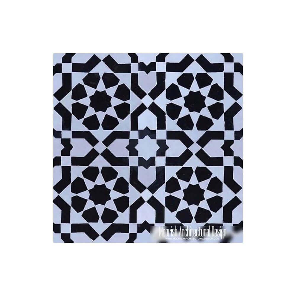 Moroccan Tile Backsplash | Black & White Moroccan Tile