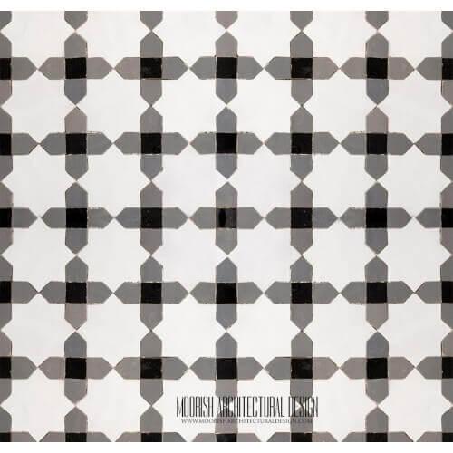 Moroccan Monochrome Tile 12