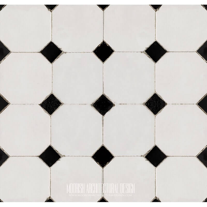 Monochrome tiles inspiring moroccan bathroom design ideas for Monochrome design ideas