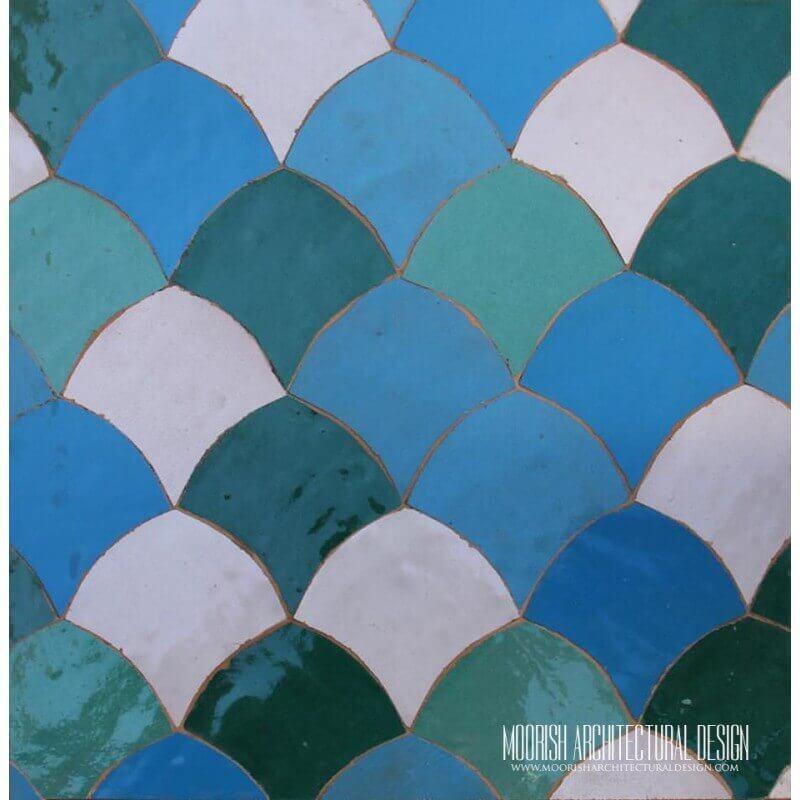 Multicolor Fish Scales Tile