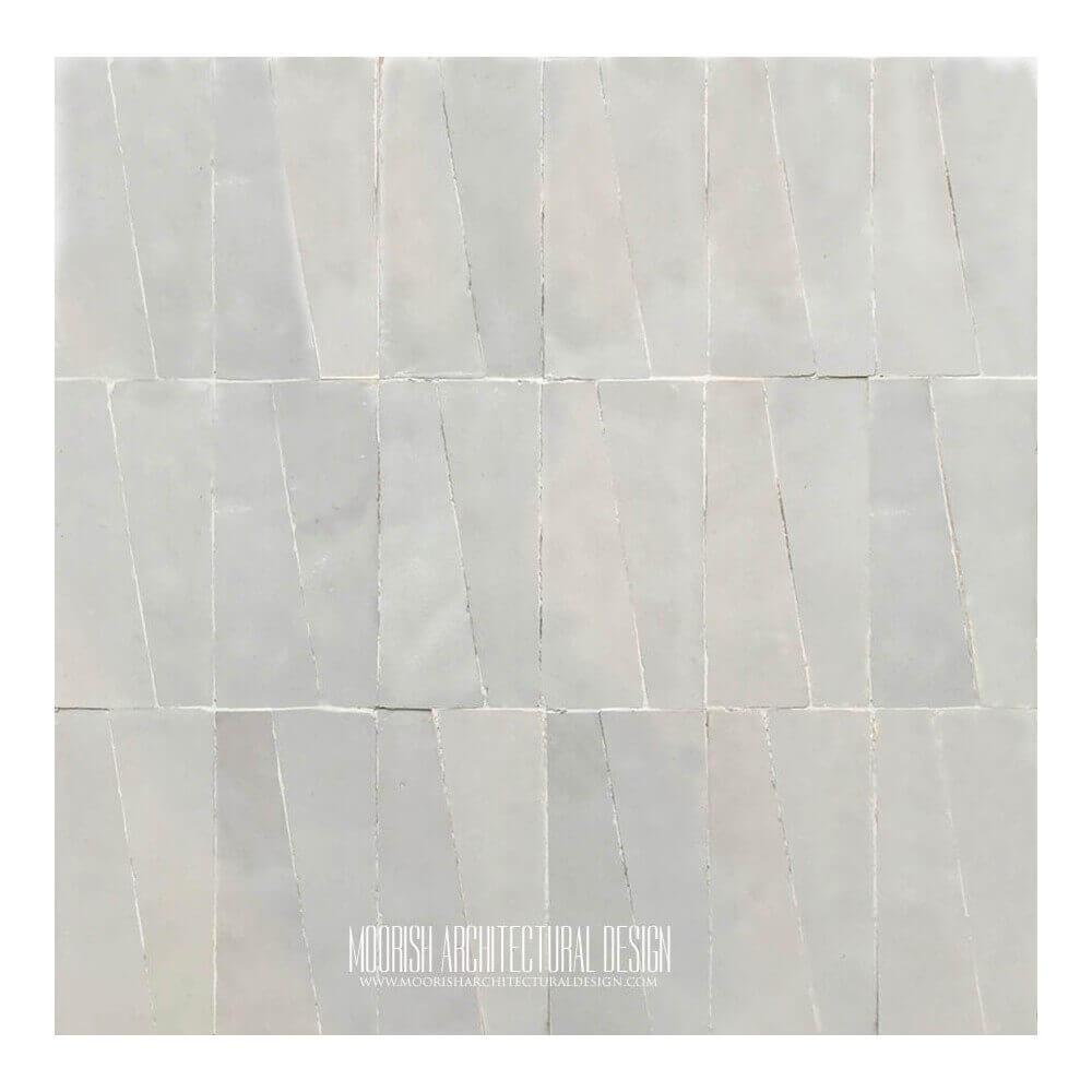 White Zellige Kitchen: White Moroccan kitchen ceramic tile mosaic