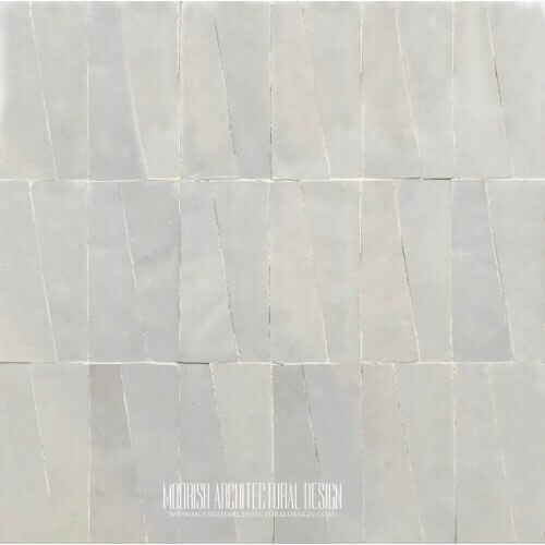 White Moroccan kitchen ceramic tile mosaic