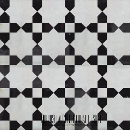 Moroccan Monochrome Tile 16