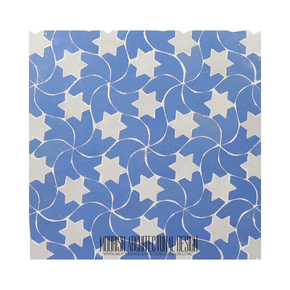 Blue Moroccan Backsplash Tile