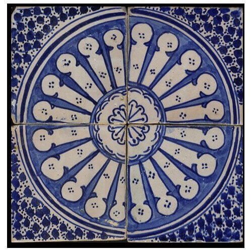 Blue Moroccan Tile Santa Barbara California