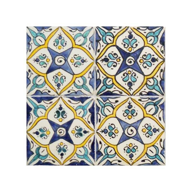 Moroccan Hand Painted Tile 03
