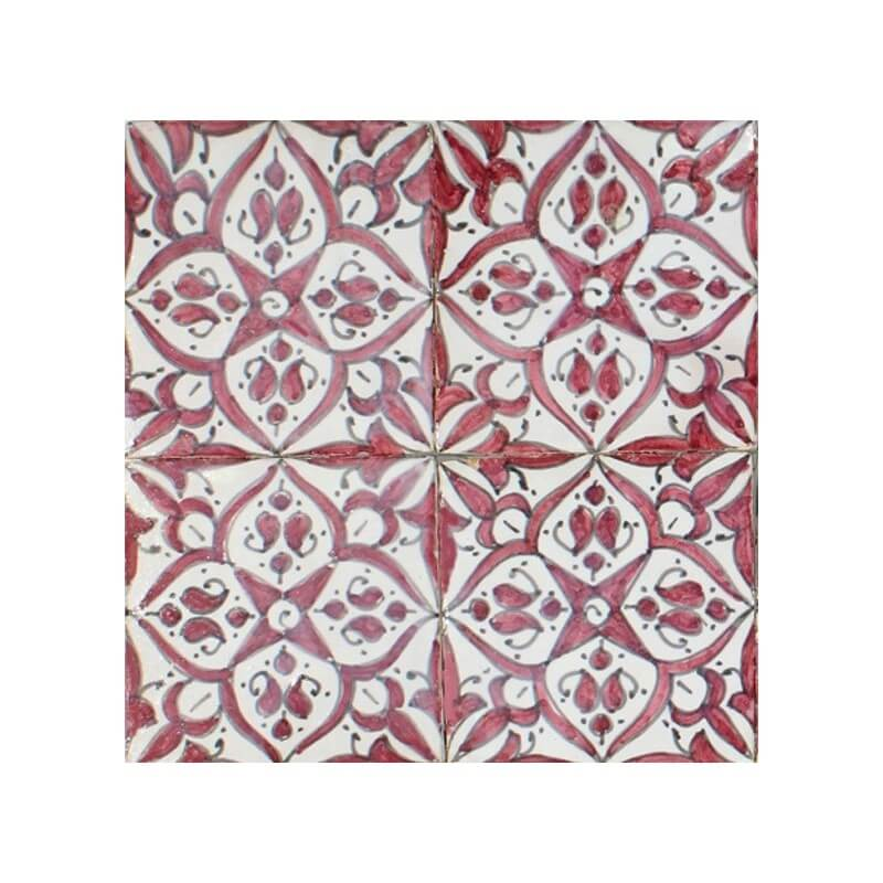 Red and White Spanish Tile