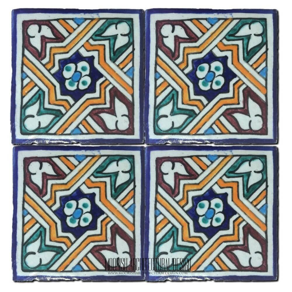 Hand painted tiles san diego california spanish colonial pool tile dailygadgetfo Choice Image