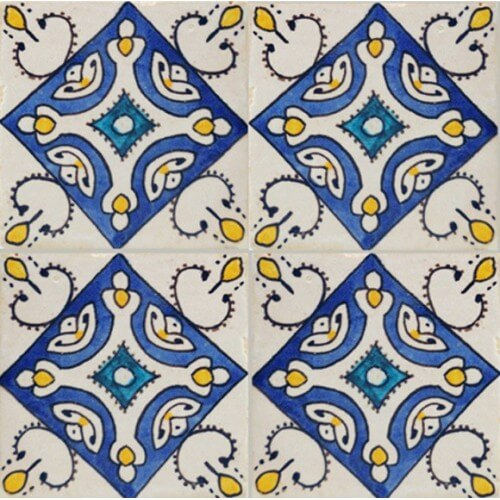 Portuguese ceramic pool tile