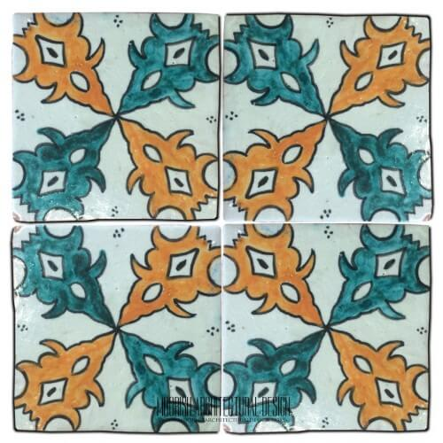 Moroccan Hand Painted Tile 30