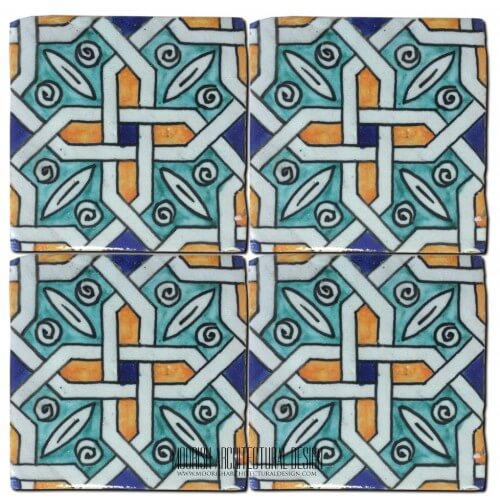 Moroccan Hand Painted Tile 34