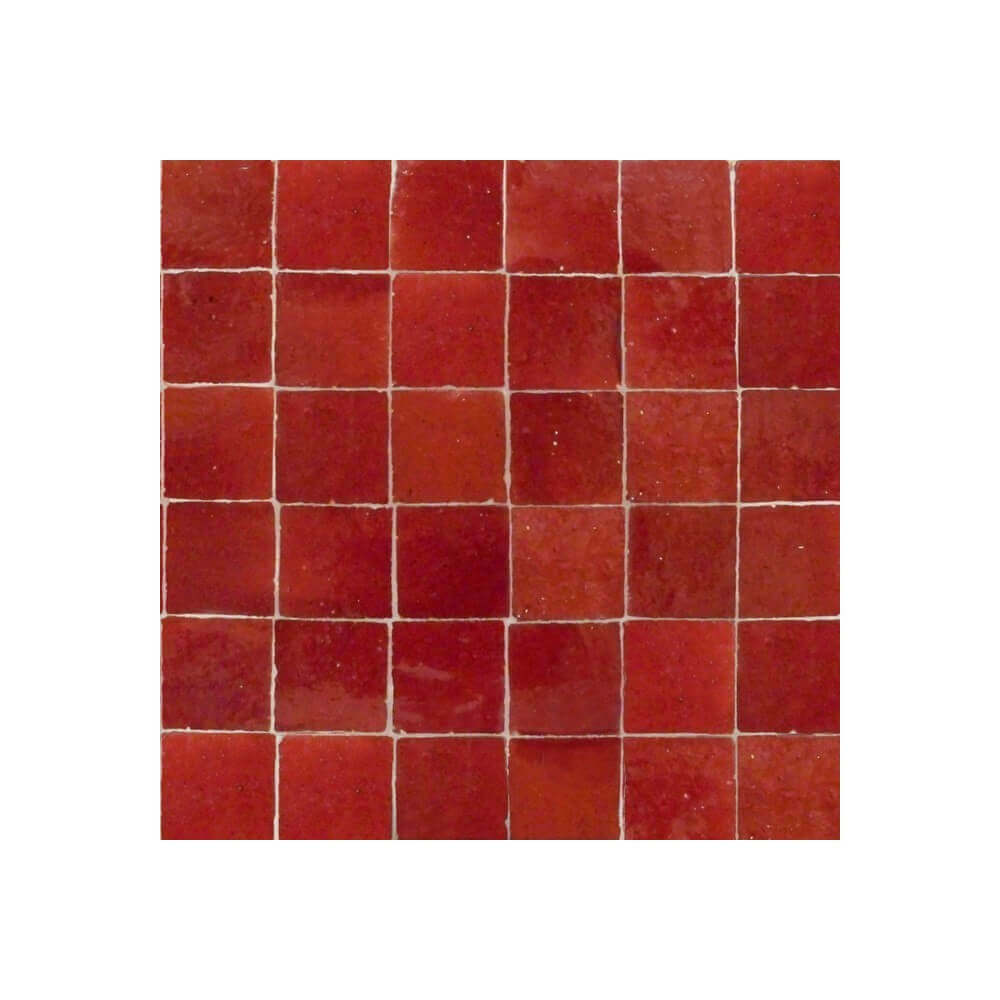 Red Moroccan Tile New York Red Zellige